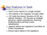 key features in sask