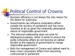 political control of crowns1