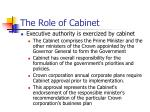 the role of cabinet