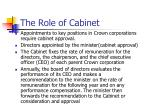 the role of cabinet1