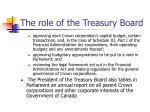 the role of the treasury board1