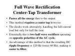 full wave rectification center tap transformer1