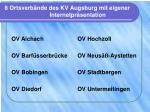 8 ortsverb nde des kv augsburg mit eigener internetpr sentation