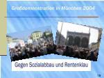 gro demonstration in m nchen 20041
