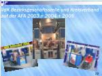 vdk bezirksgesch ftsstelle und kreisverband auf der afa 2003 2004 2005