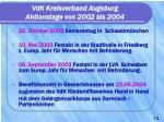 vdk kreisverband augsburg aktionstage von 2002 bis 2004