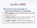 ley nro 30056