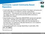 comments launch community based repository
