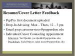 resume cover letter feedback