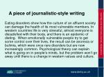 a piece of journalistic style writing