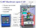 g 007 hardware open cad