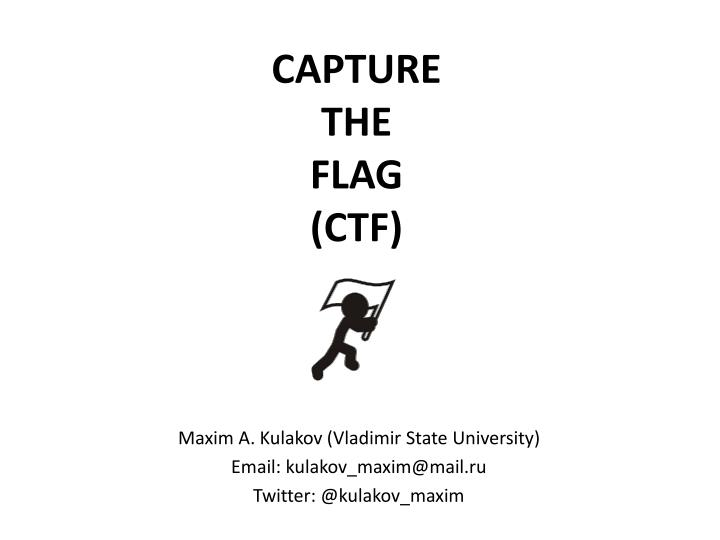 capture the flag ctf n.