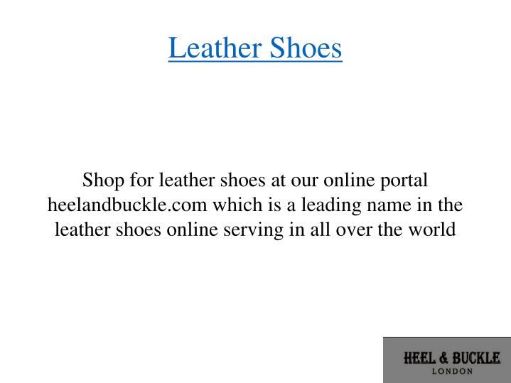 leather shoes n.