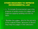other measures to improve environmental law