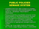 public policies sewage system