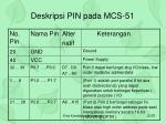deskripsi pin pada mcs 51