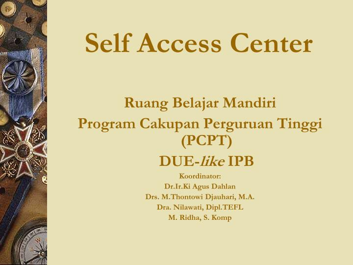 self access center n.