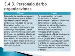 5 4 3 personalo darbo organizavimas