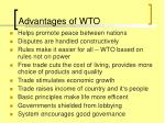advantages of wto