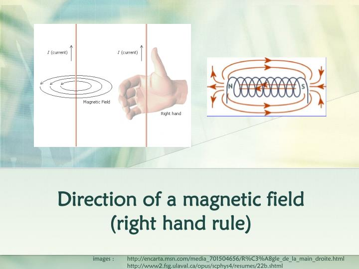 direction of a magnetic field right hand rule n.