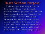 death withou t purpose1