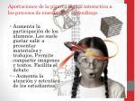 aportaciones de la pizarra digital interactiva a los procesos de ense anza y aprendizaje