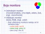 boja monitora