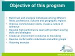 objective of this program