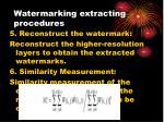 watermarking extracting procedures3
