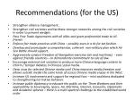 recommendations for the us