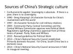 sources of china s strategic culture