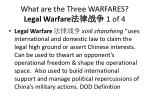 what are the three warfares legal warfare 1 of 4