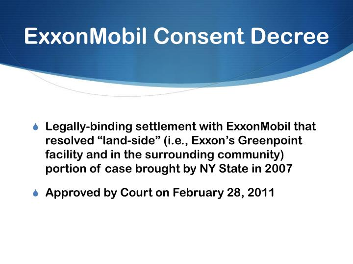 Exxonmobil consent decree