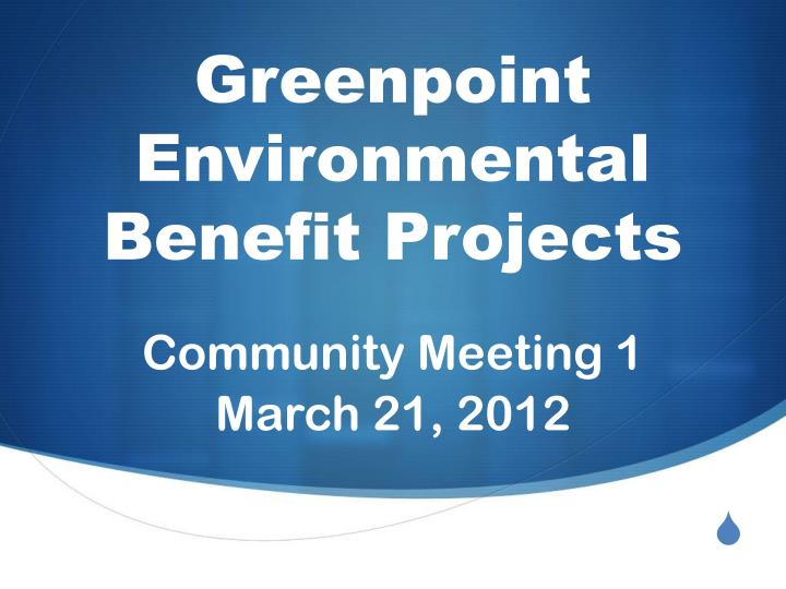 greenpoint environmental benefit projects n.