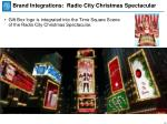brand integrations radio city christmas spectacular