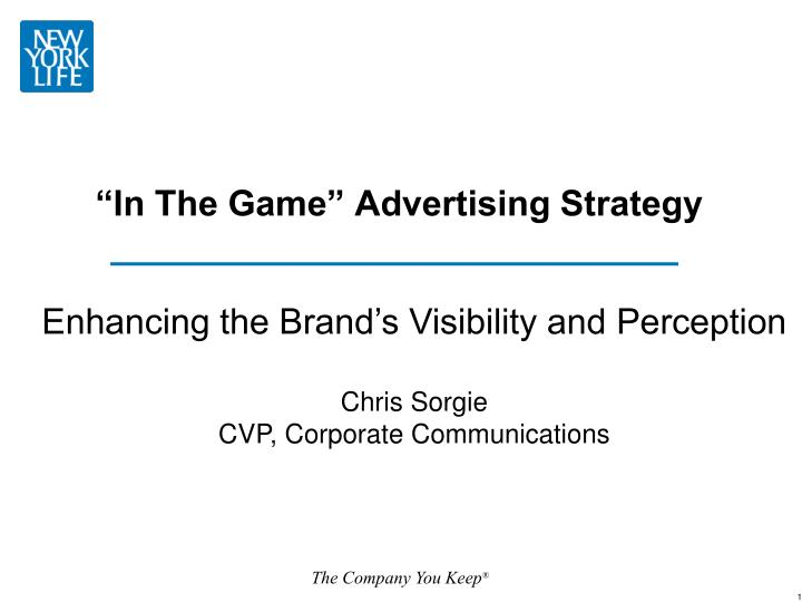in the game advertising strategy n.