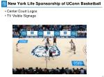 new york life sponsorship of uconn basketball