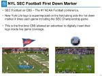nyl sec football first down marker