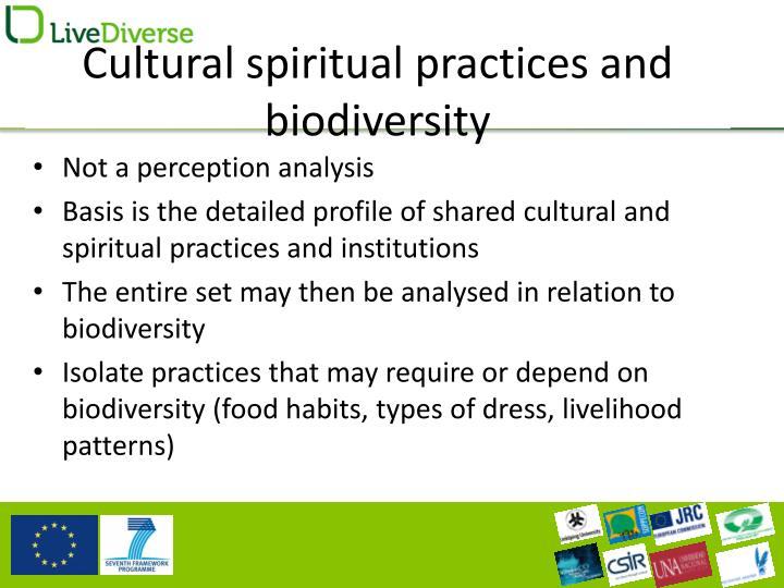 Cultural spiritual practices and biodiversity