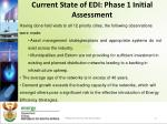 current state of edi phase 1 initial assessment