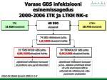 varase gbs infektsiooni esinemissagedus 2000 2006 itk ja ltkh nk s