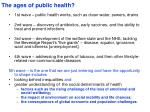 the ages of public health