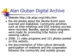 alan gluban digital archive