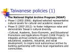 taiwanese policies 1