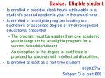 basics eligible student