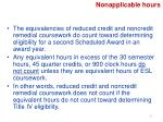 nonapplicable hours1