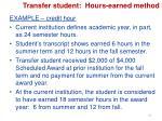 transfer student hours earned method2