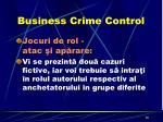 business crime control