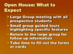 open house what to expect