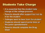 students take charge